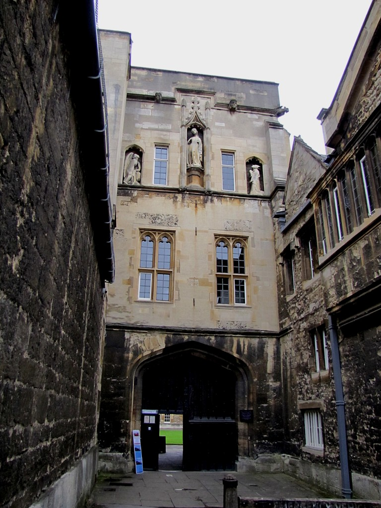 "This formidable place is the gate of New College, which was the first college designed in a deliberately fortified nature, and with an eye to economy of placement of facilities within. I found it very interesting for two main reasons: first, Archibald Spooner, who gave the English language the word ""spoonerism,"" was Warden here once upon a time. Second, it's a beautiful illustration of how the colleges are each little self-contained worlds. This is the outside..."
