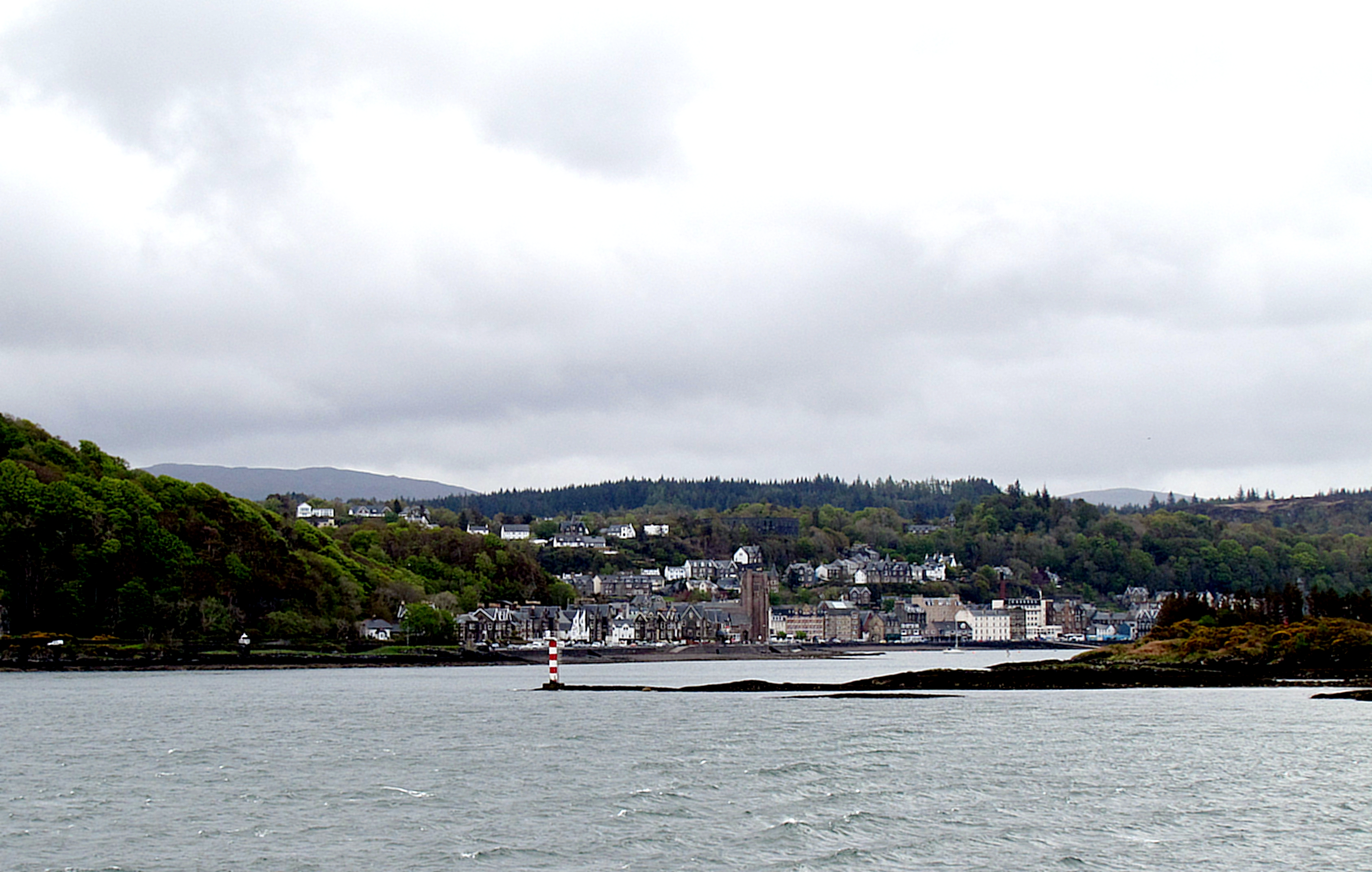 This is the waterfront of Oban as the ferry carries me away towards the island of Mull.