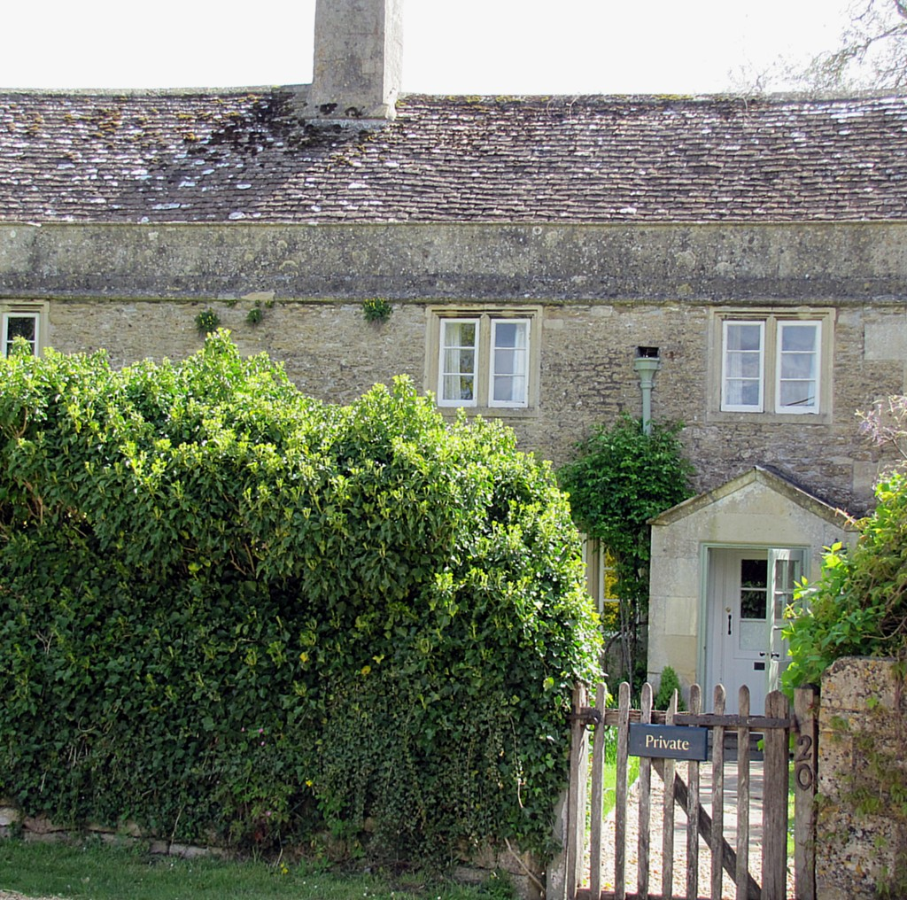 One of Lacock's big claims to fame is that they filmed some scenes from Harry Potter here. This, for example, is the house they used for Harry's parents in the movies.