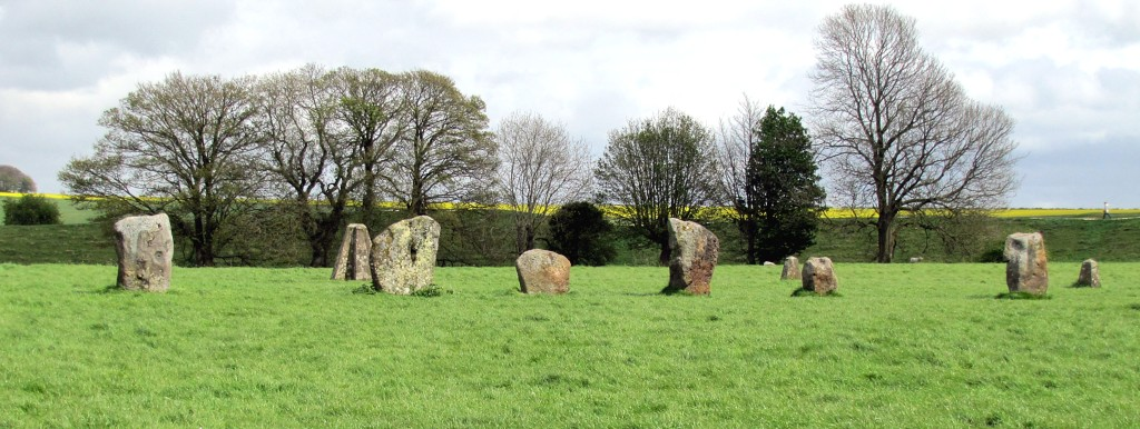 This is the smallest of the stone circles, in the same field.