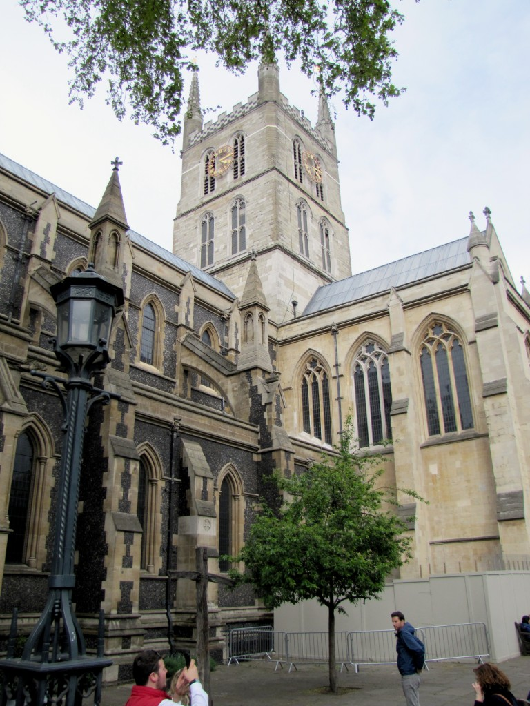 "When I get street directions like, ""Keep the Cathedral on your left,"" and you have ask , ""Which Cathedral,"" you know you're not in Winnipeg anymore. This is Southwark Cathedral."