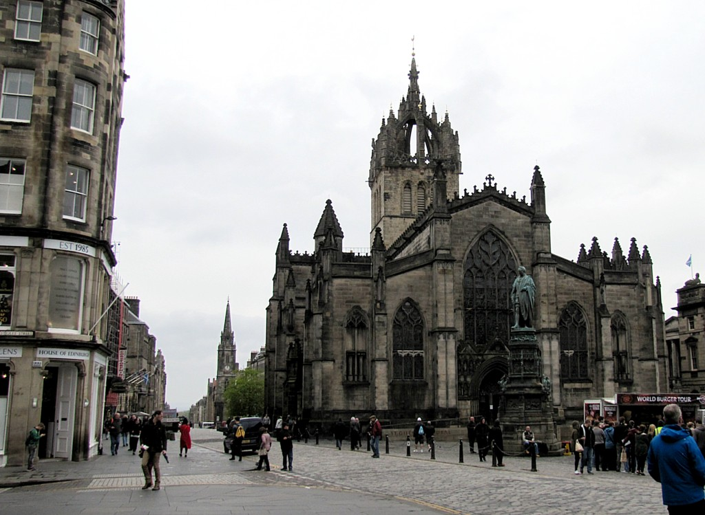 This is St. Giles, the church of the patron saint of Edinburgh.