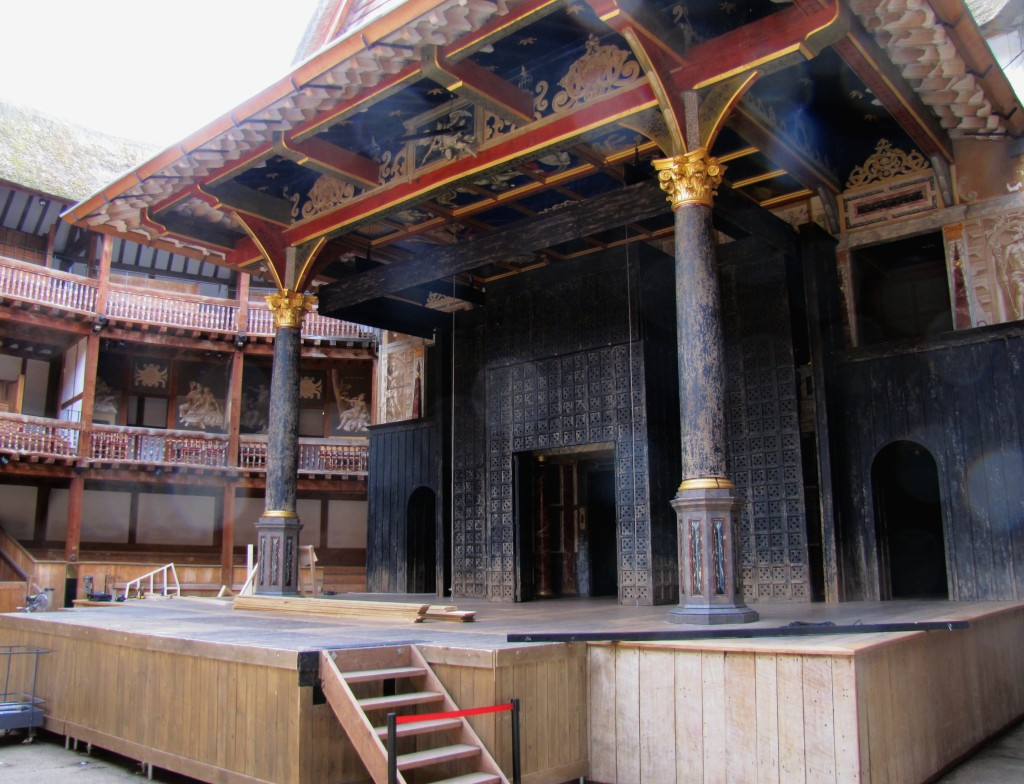 """The stage from the pit. This is where the common folk would stand after paying a penny. Shakespeare called them """"penny stinkards."""" I'm sure you can figure out why."""