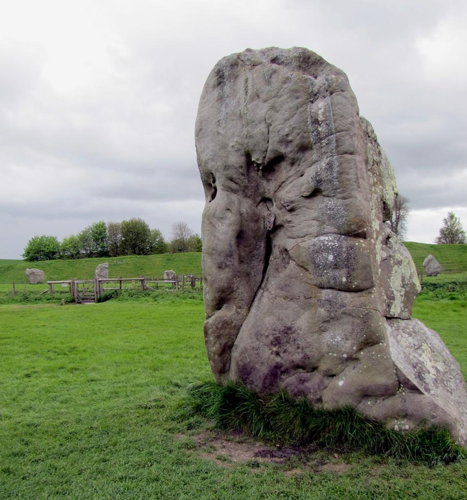 One of the big stones.
