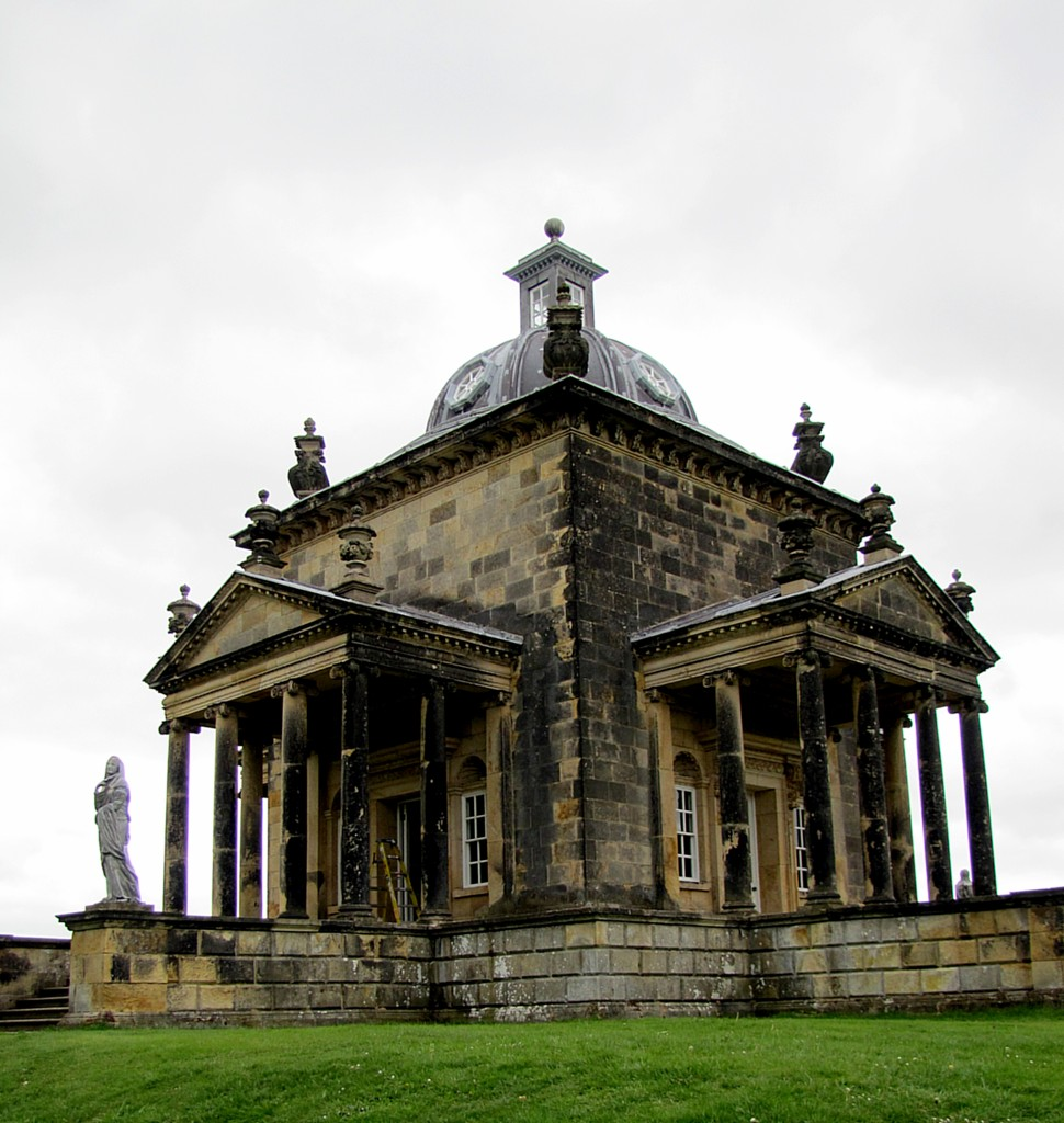 This is the Temple of the Four Winds. It's a classical-style folly standing out at one corner of the main grounds.