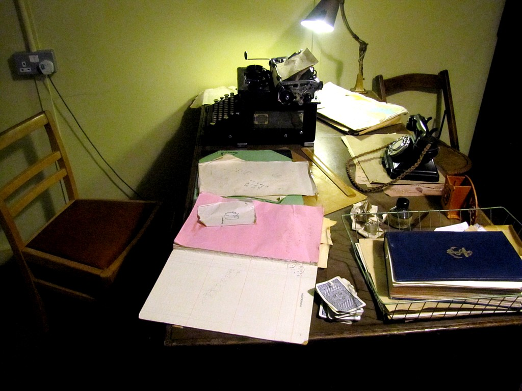 And this is a reconstruction of Alan Turing's desk in Hut 8.