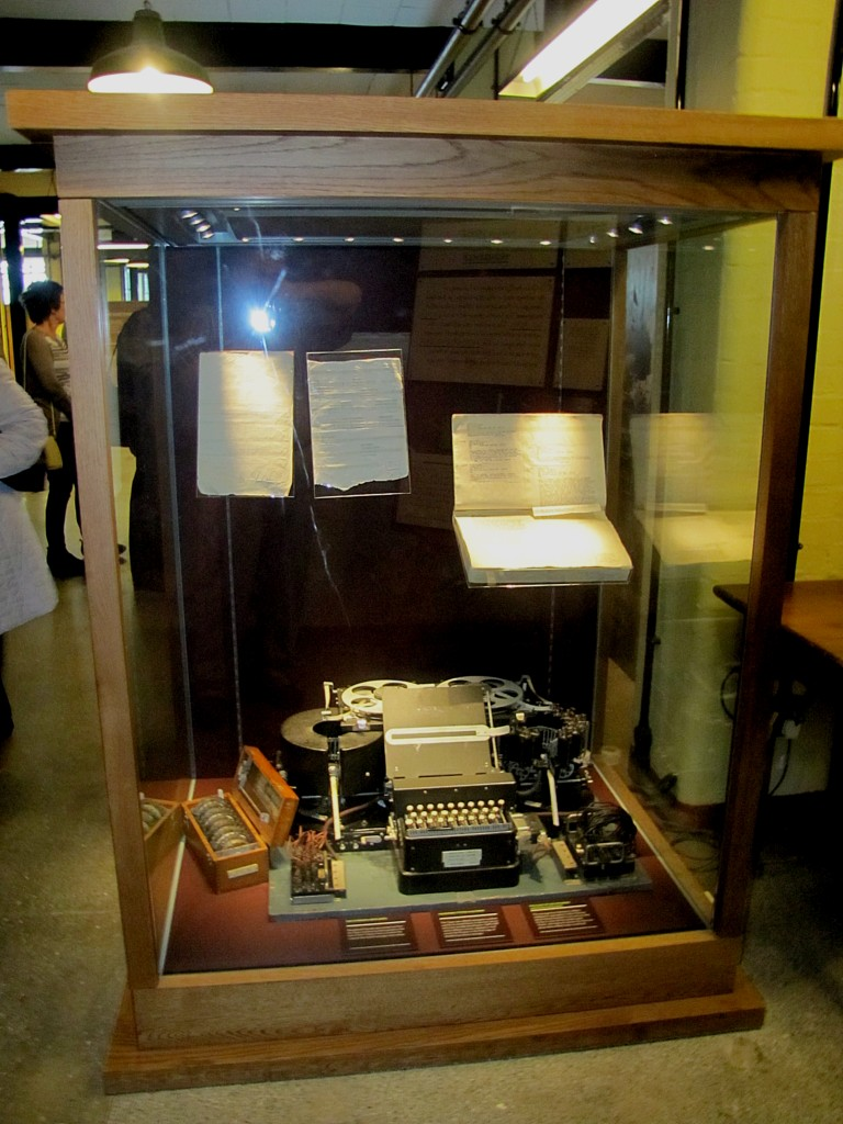 Once they had the day's settings for Enigma, those would be set up on this Typex machine. Enigma messages could then be typed on the Typex, which would output the deciphered message.