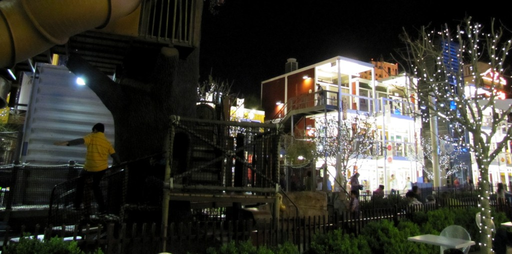 It marked the Container Park, which is a three-storey, open air mall made out of shipping containers.